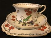 Tuscan Art Deco tea trio